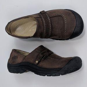 Keen Kaci Clogs Nubuck Leather Brown Slip-On 7.5